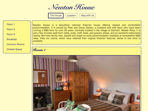 Website built for Newton House